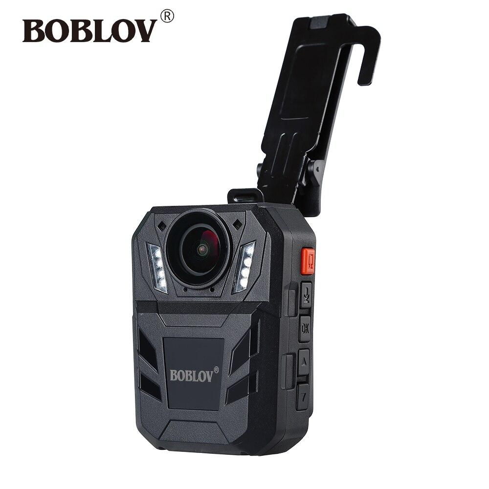 BOBLOV WA7-D Camara Policial Ambarella A7 64GB Video Recorder Body Camera HD 1296P Remote Control Mini Comcorder Security Guard